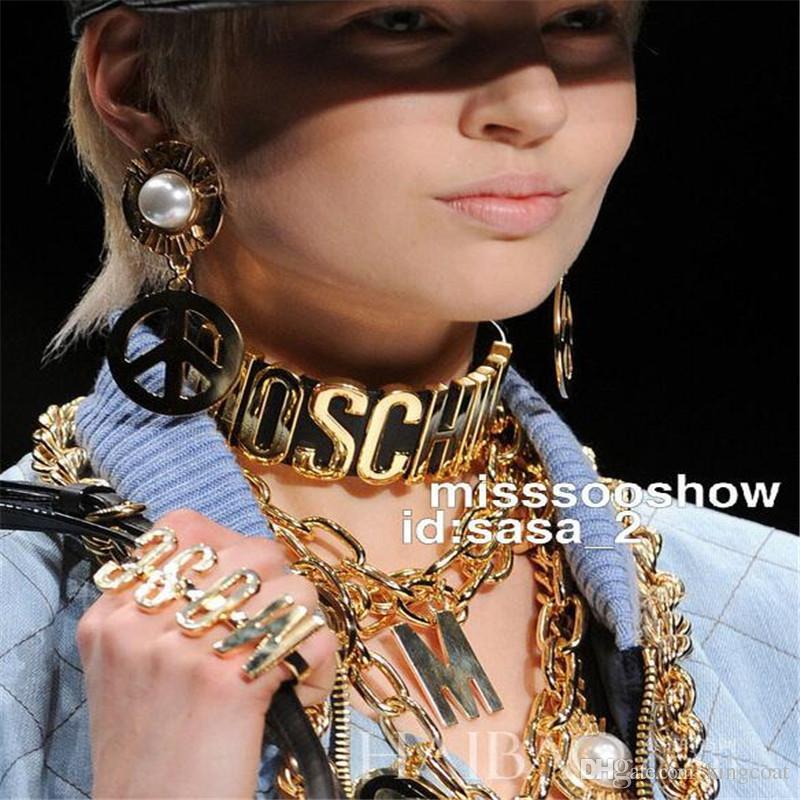 Carta Hip Hop Mujer Chokes Moda de Cuero Personalidad Señora Marca Collares Club Nocturno Exageración Mujer Choke Collares