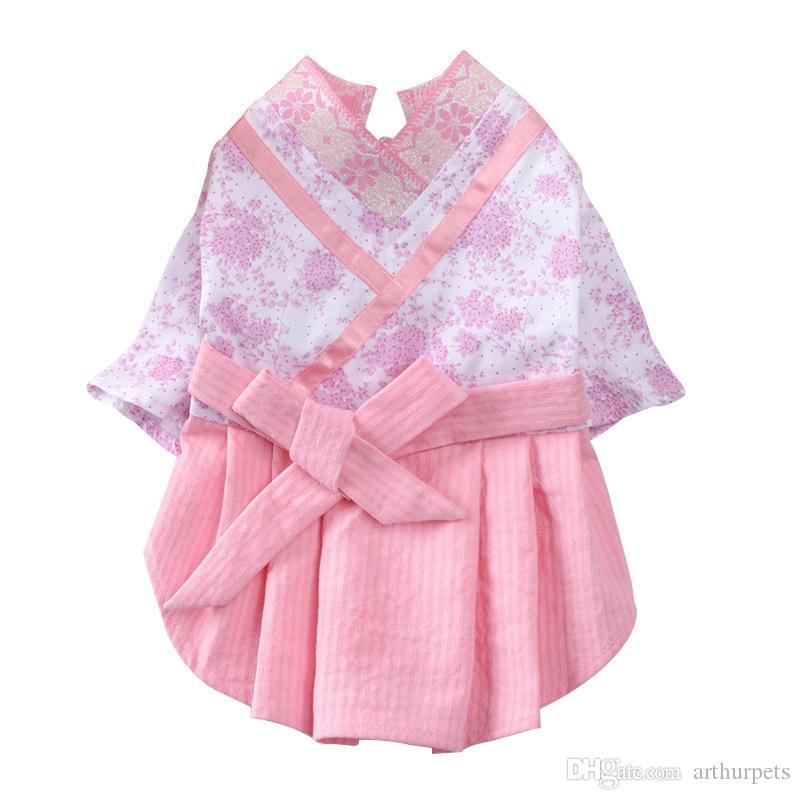 Hanfu فساتين الصيف الكلب اللباس القط لصغيرة جرو فستان الزفاف تنورة الربيع ملابس اعتصامات أزياء هان على غرار الحيوانات الأليفة ملابس XS-XL