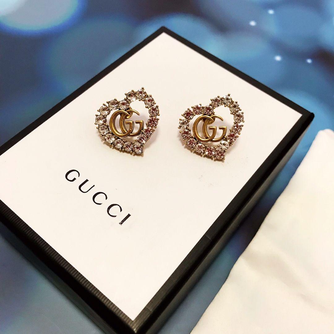 حار أسلوب الأمريكي حار بيع earrings2020 التخصيص الفاخرة شعار شعبية أزياء الربيع والصيف الرجعية مجموعة الأقراط المرصعة بالماس جديدة