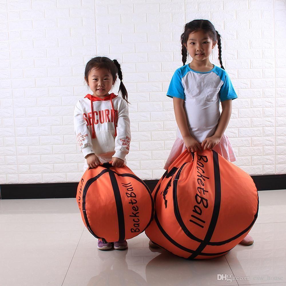 Basketball Baseball Fußball Stil Spielzeug Lagerung Bohnenbeutel Weichen Beutel Stoff Kind Stofftier Plüsch Schrank organizer Spielzeug Lagerung