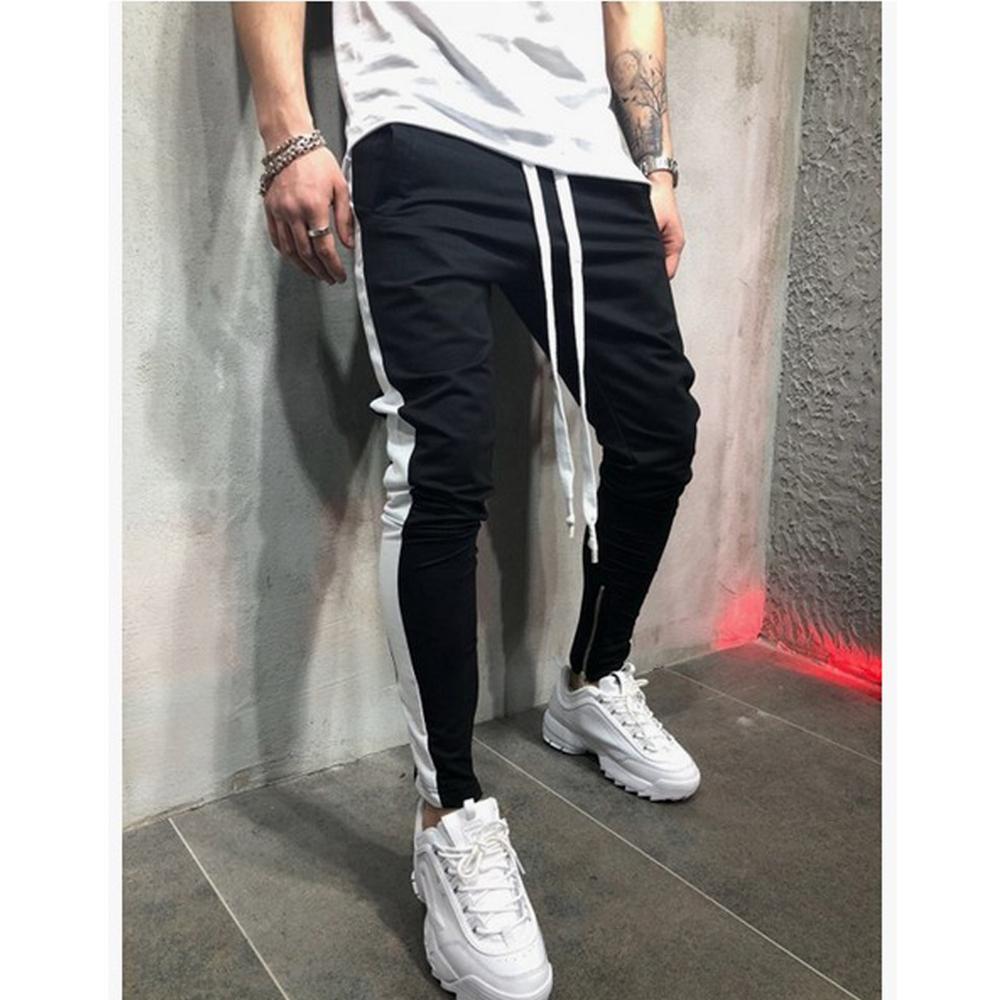 Pantalones de moda para hombre Moda casual Hombres Pantalones largos deportivos Chándal Joggers Pantalones de entrenamiento de gimnasio Pantalones de chándal