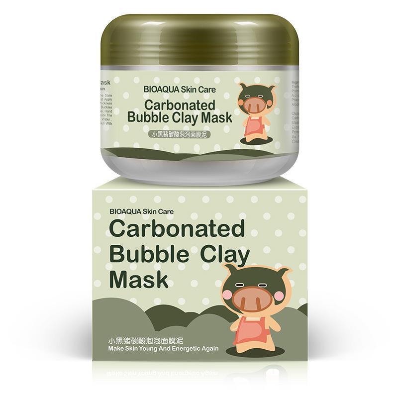 BIOAQUA conejillo de burbujas gaseosas mascarilla de arcilla 100g quitar piel de la cabeza negro poros cuidado de la cara del sueño máscara facial BIOAQUA Cuidado de la Piel