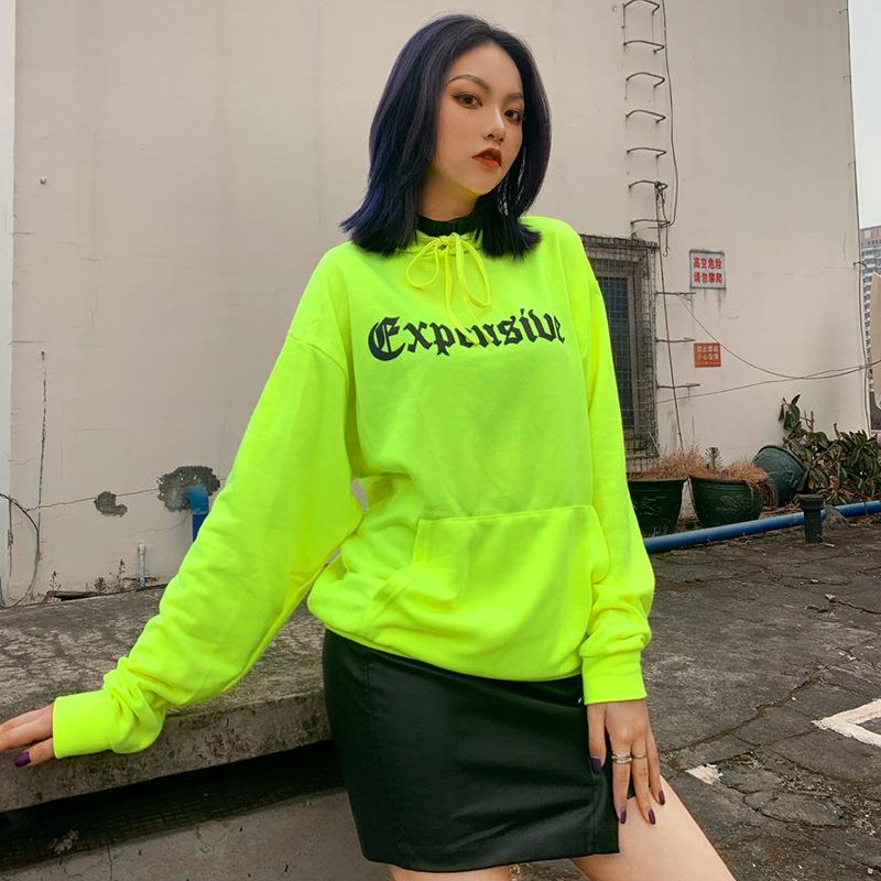 créateur de mode des femmes de hoodies européens et américains nouveau printemps et modèles explosion été lettre d'impression chandail à capuchon marée de la rue