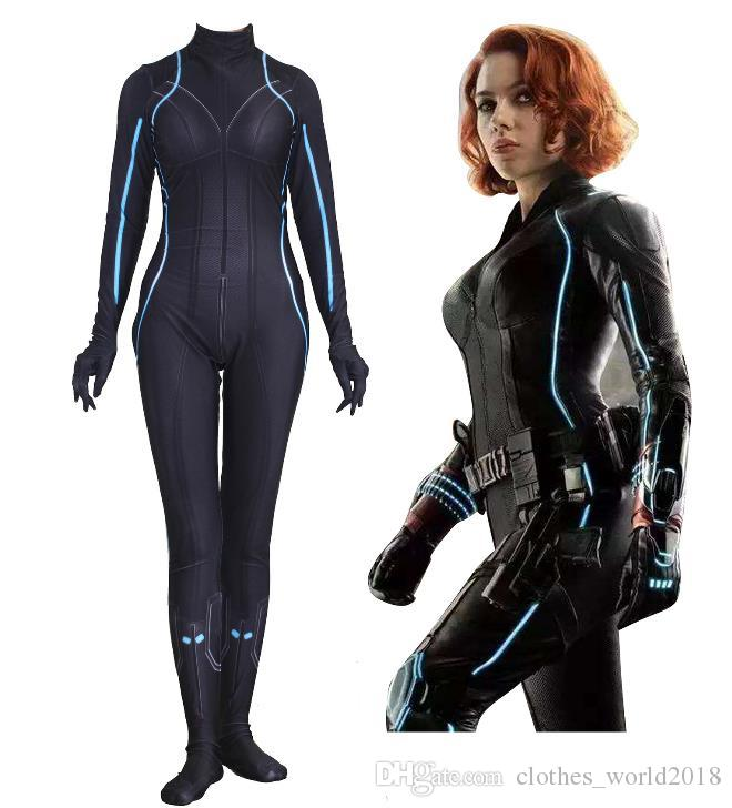 Marvel Avengers Black Widow Cosplay Siamy Tights Cosplay Costume 2019 New Avenger End Game Adult Cosplay Pet Halloween Costumes Dog Halloween Costume