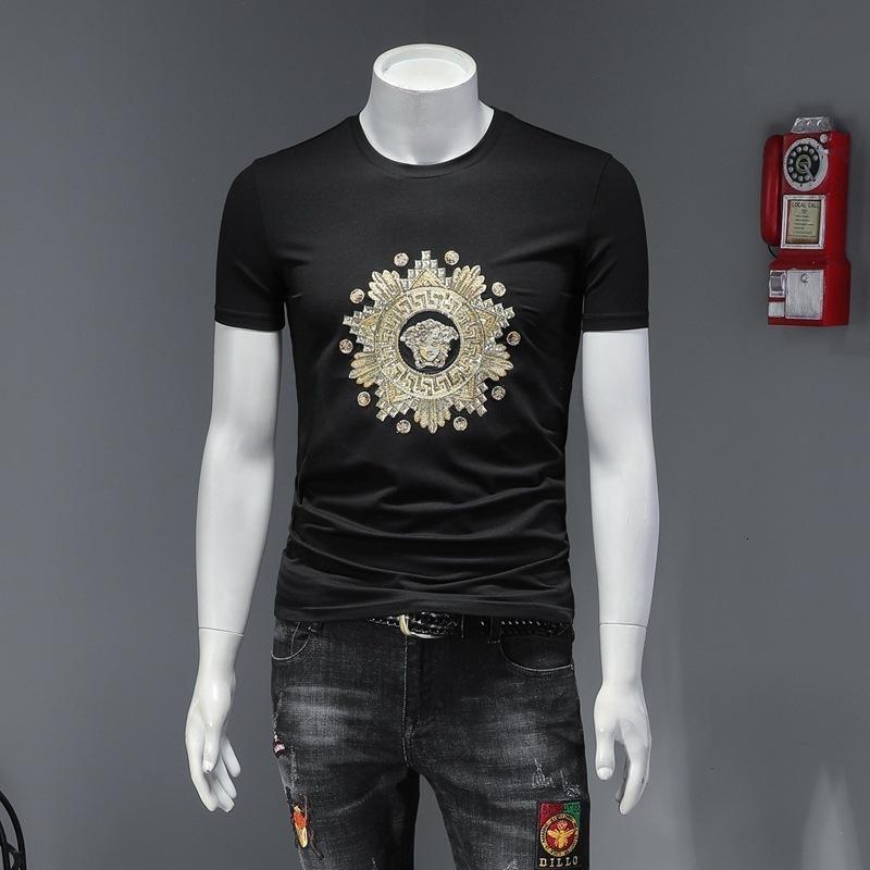 T-shirt BUZV2020 novo de mangas curtas casal de algodão de verão