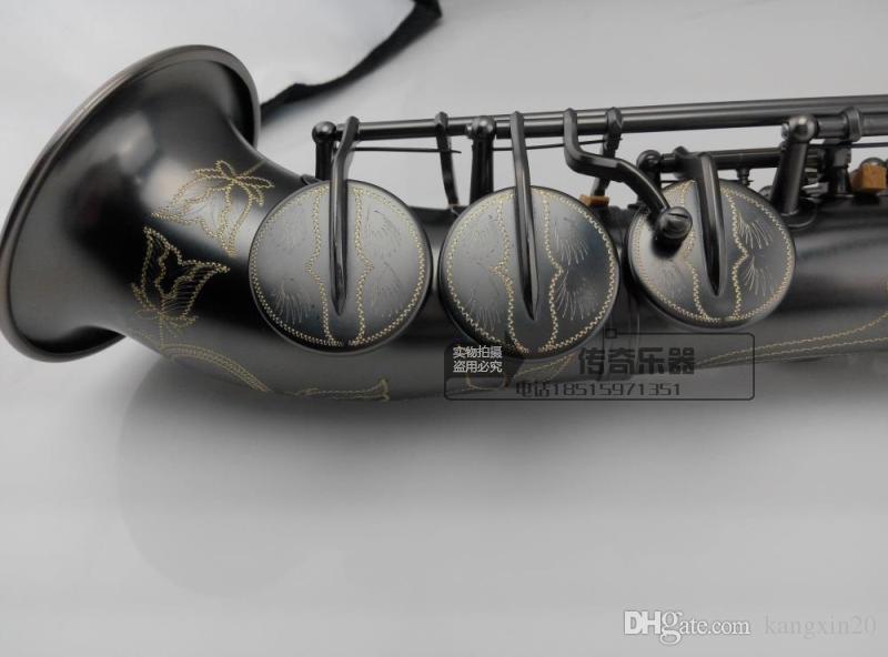 Alta qualità Yanagisawa S-901 Sax soprano B flat Sassofono soprano curvo perla nera professionale del grado di trasporto
