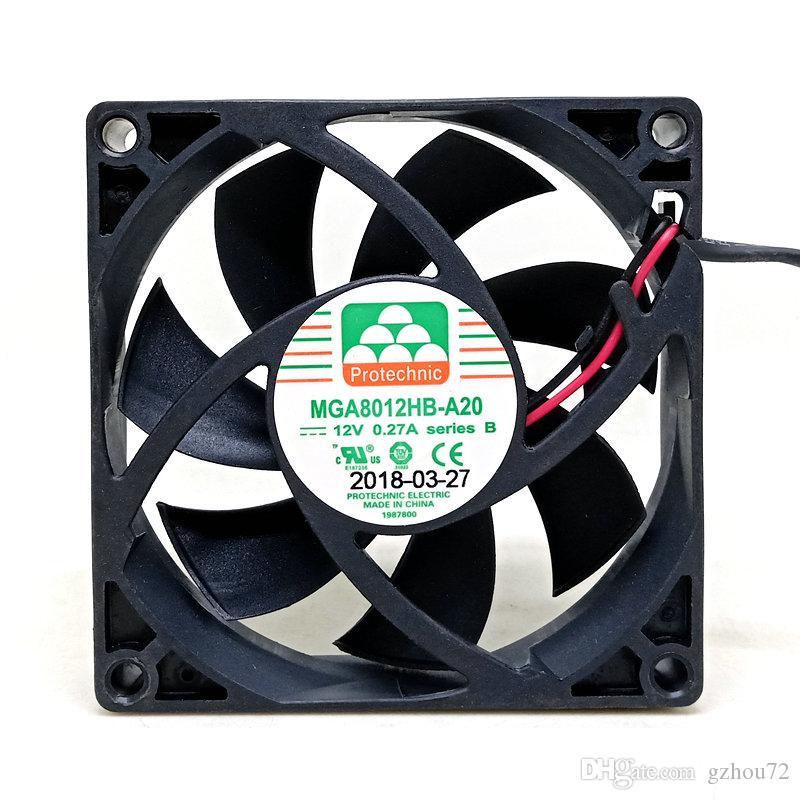 Новые оригинальные MGT8012MB-A20 MGT8012HB-A20 80 * 80 * 20MM 8 см 12V 2wire 3wire вентилятор охлаждения