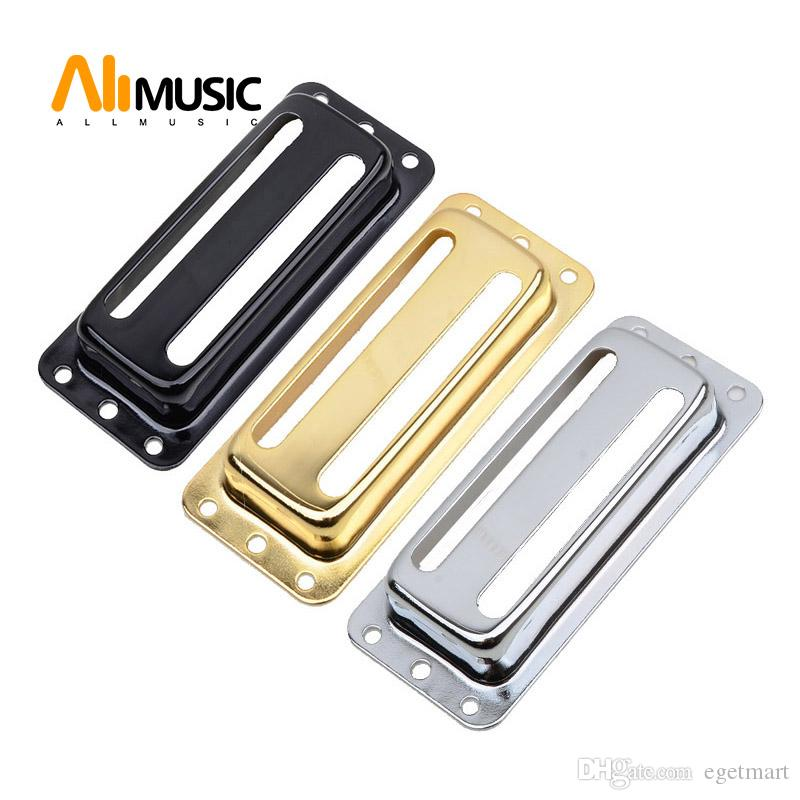 10Pcs Two Line Metal Brass Electric Guitar Pickup Humbucker Pickup Covers /Lid/Shell/Top - Chrome Black Gold