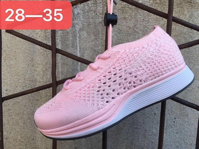 Nike Flyknit Racer Be True K001 2019 novo Sem Caixa Volt Oreo Piloto Multicolor Rainbow Knitting Crianças Tênis de Corrida Oreo Racer Arco-íris Crianças Sapatilhas Casuais