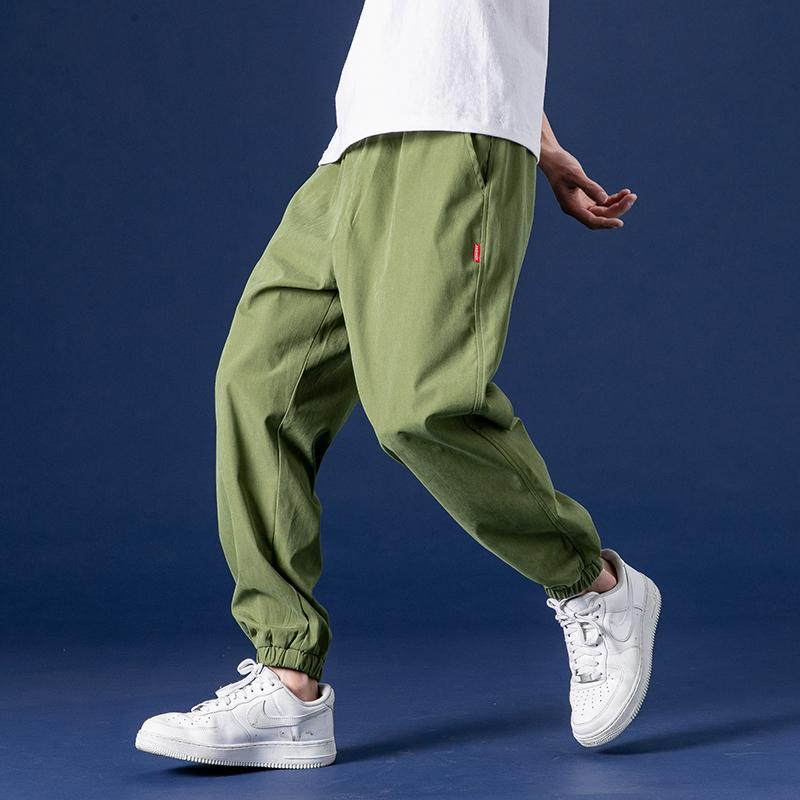 Men's Casual Pants Korean Version Of The Trend Spring And Autumn Loose Tide Pai Gow Toe Sports Pants Solid Ankle-Length