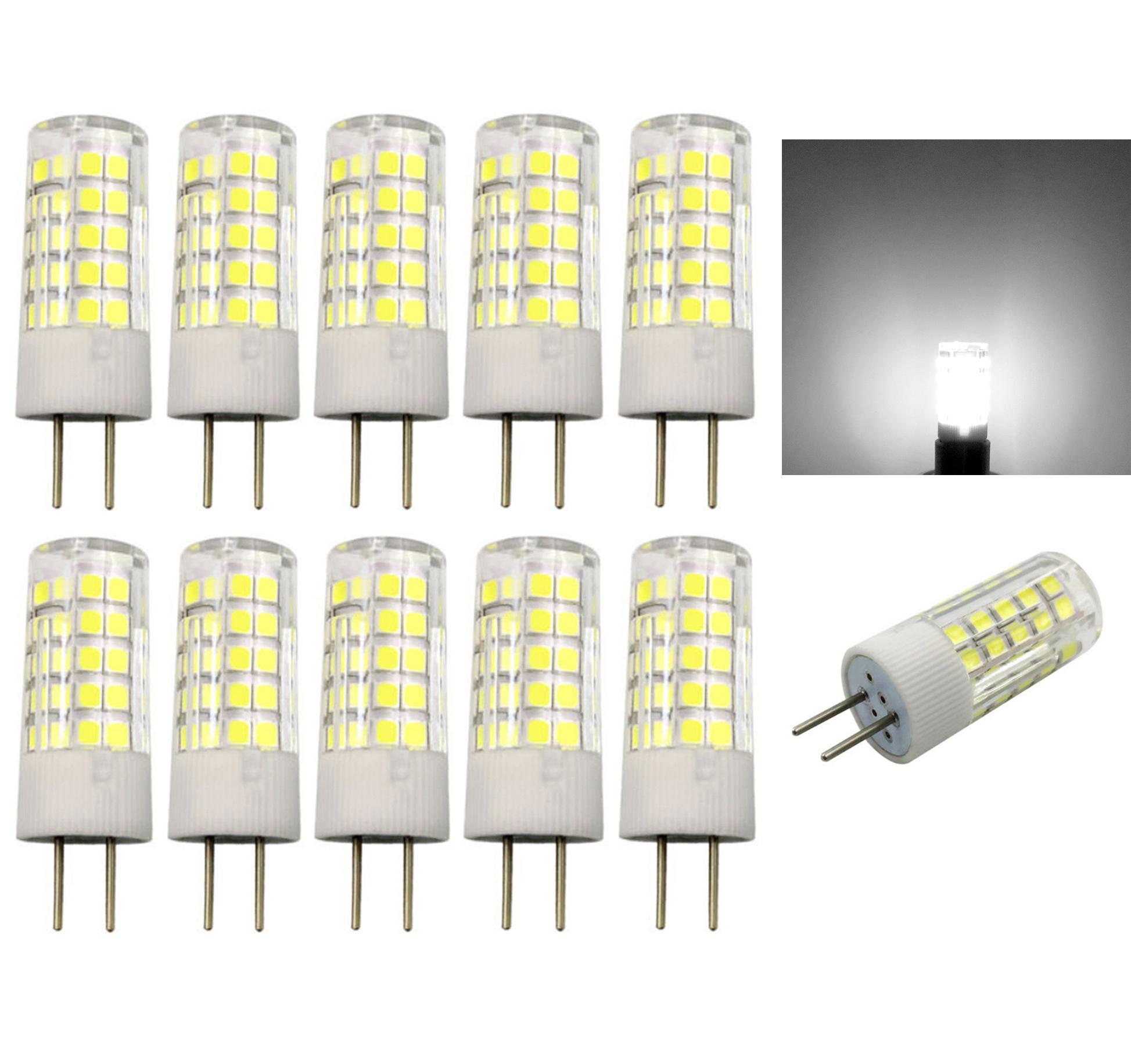 Пакет 10, GY6. 35 (G6.35/GX6.35) светодиодная лампа 5W MINI 64-2835 SMD лампа ACDC 12V керамика белый свет