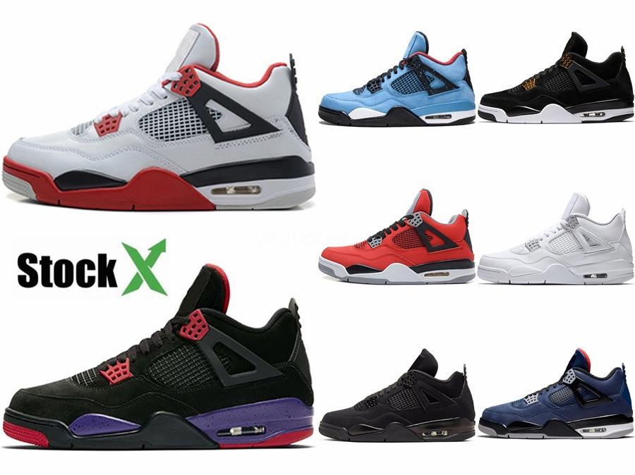 2020 nuevos zapatos de baloncesto de Jumpman 4 deportes al aire libre gimnasio los zapatos rojos de Chicago Boy 4S lujo zapatos deportivos # 648