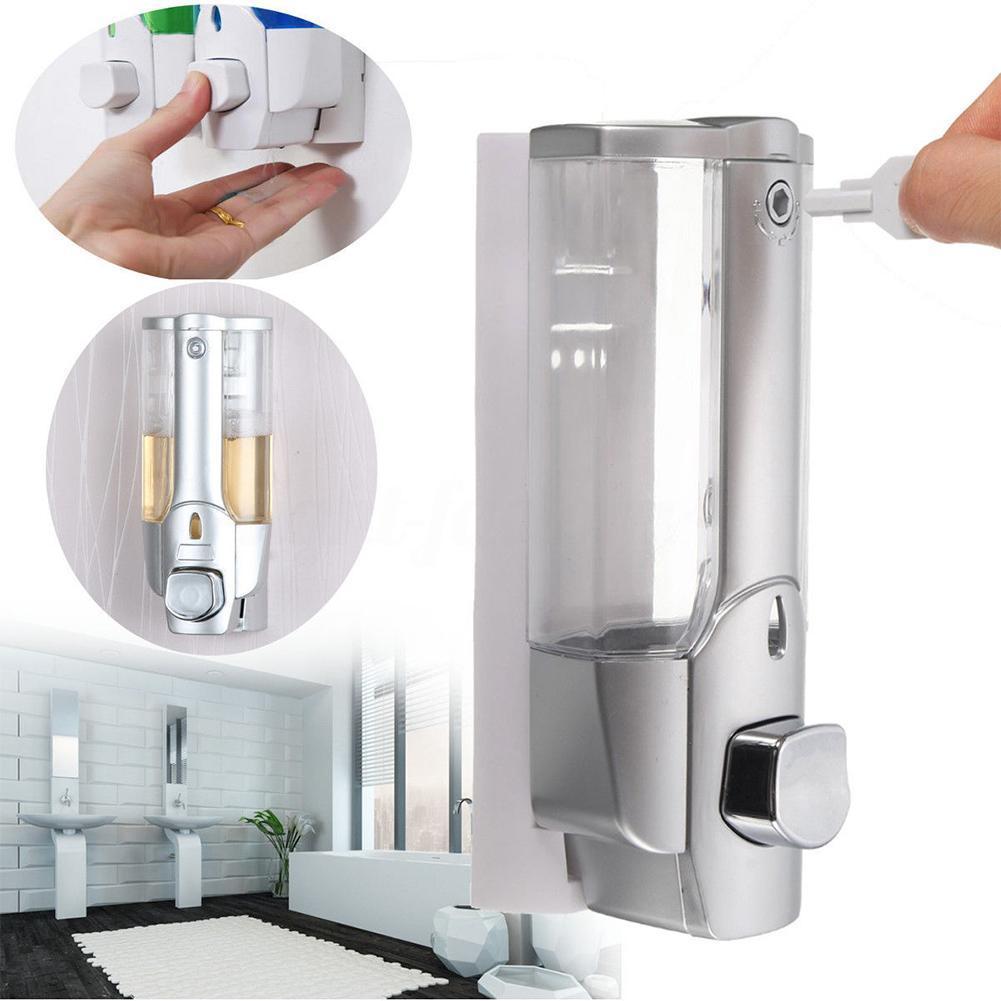 350 мл дозатор мыла настенный жидкий дозатор для мытья рук ванная комната гель для душа контейнер ручной пресс дозаторы морская доставка CCA12221