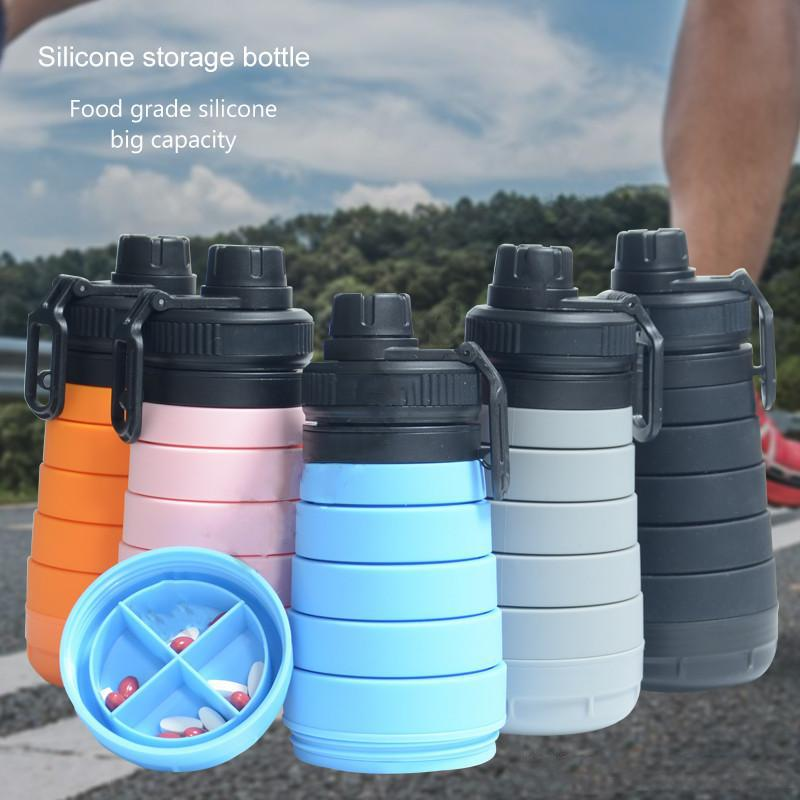 Outdoor Sports Safe Water Bottle Folding Large Capacity Telescopic Health Kettle