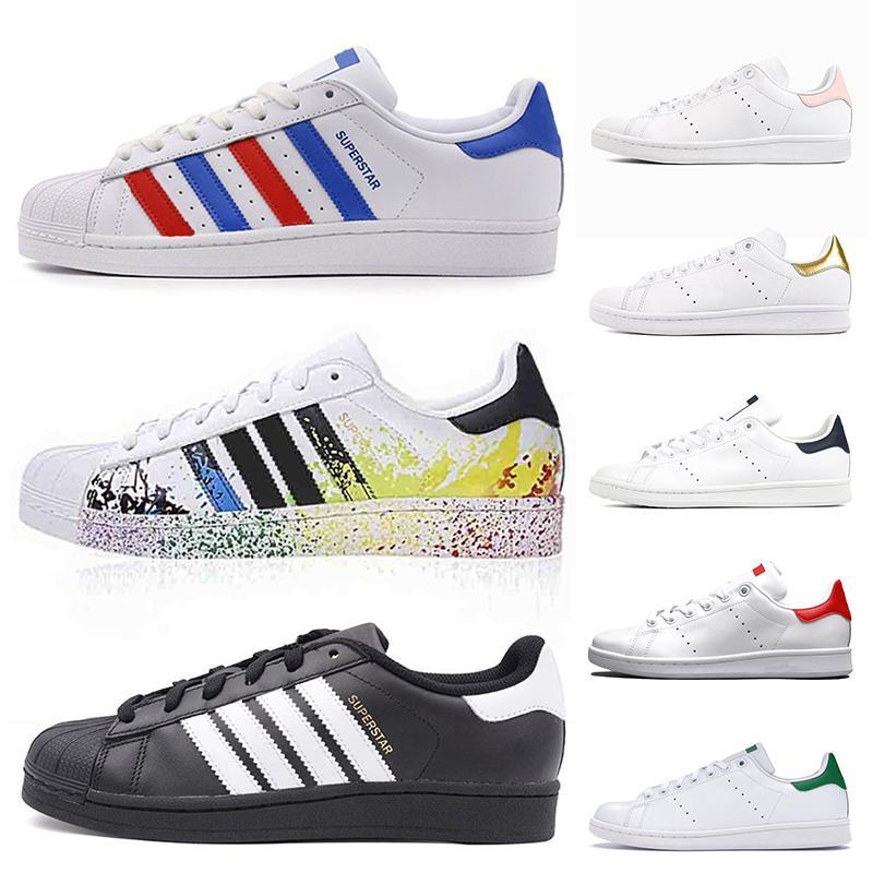 adidas stan smith Moda Deri Superstars Stan Smith Erkek Casual Ayakkabı Beyaz Siyah Yeşil Mavi Altın Gençlik Öğrenci Orignals Platformu eğitmenler Spor ayakkabılar Womens