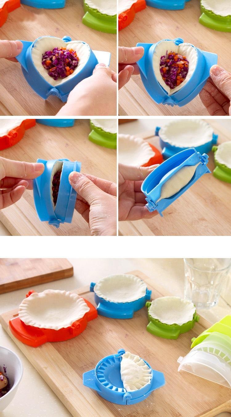 액세서리 반죽 눌러 클립 새로운 주방 도구 DIY 만두 메이커 장비 간단한 손 만두 만드는 케이크 금형 간단한 도구를 만두