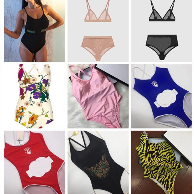 GU MAILLOT New Style dame Maillot une pièce Femmes Taille Plus Maillots Retro Vintage Maillots de bain Beachwear g lettre imprimée Maillot de bain S-XL