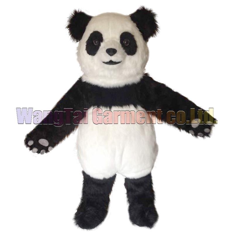 Yeni Panda kostüm Üst sınıf lüks çizgi film karakteri kostümleri Panda maskotu takım Fantezi elbise parti karnaval Ücretsiz Kargo maskotu
