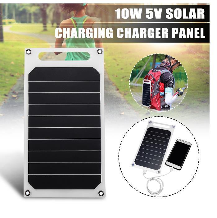 5V 10W DIY Solar Panel Slim Light USB Charger Charging Portable Power Bank Pad Universal For Phone Lighting Car Charger