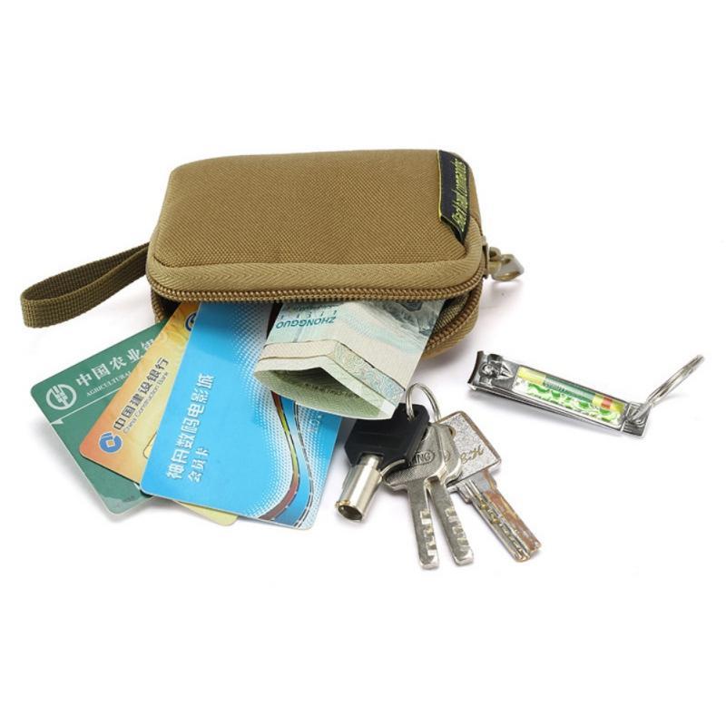 Открытый держатель Изменить Монеты Чехол для наушников Водонепроницаемая карта ключа Sack Small Item Организация Tactical Охотничий Square Wallet Кошельки