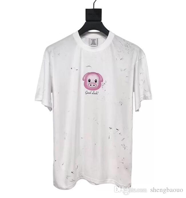 8a6358cd2 2019 Summer Harajuku emoji vetements T Shirt Men Women Tops Print Runway  Designer Female Short Sleeve ...