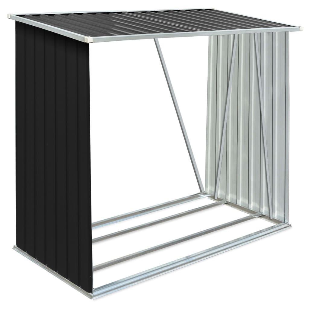 Refugio de madera de almacenamiento de acero galvanizado 163X83X154Cm antracita muebles para la sala