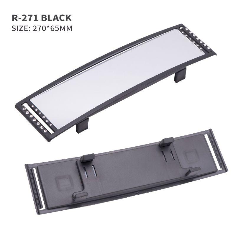 black 270 mm Wide Angle Mirror Universal Rear Mirror Car Auto Accessories UK