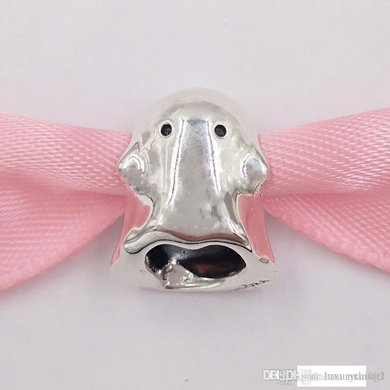 Authentiques argent 925 perles Boo Le fantôme Charms Charm Fits bijoux européens Style Pandora Bracelets Collier 798340EN16