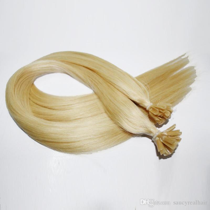 """16 '' 18 '' 20"""" 200G queratina U clavo de la extremidad del pelo Extensión 6 Color disponible, 200ST Lot, envío libre"""