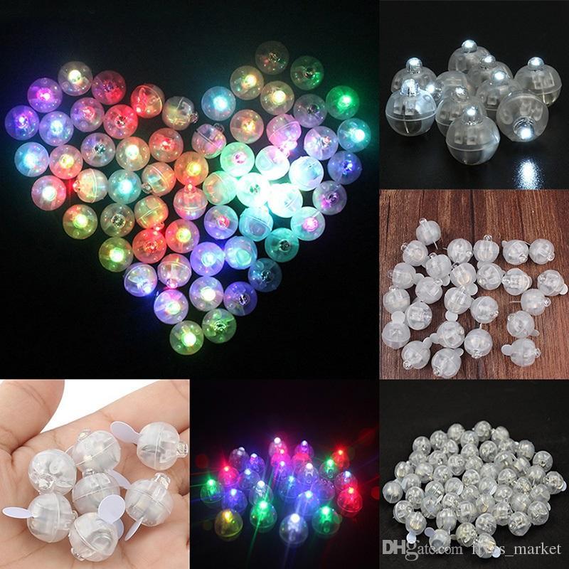 LED Balloon Light Mini Round Shape Glowing Light Paper Lantern Birthday Wedding Christmas Bar Party Decoration Supplies AN2288