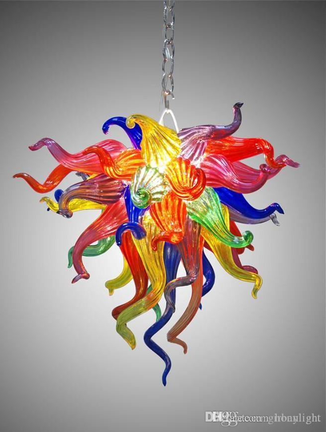 LED meraviglioso stile mini del Corridoio in vetro soffiato piccolo lampadario lampada Tiffany Stained Glass lampadario di cristallo