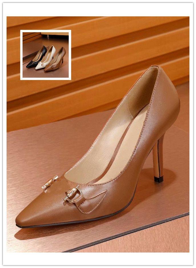 fashion Women Pumps Zumi mid-heel leather pink designer sandals printed lining horsebit womens black pumps 4.5cm and 9cm P21