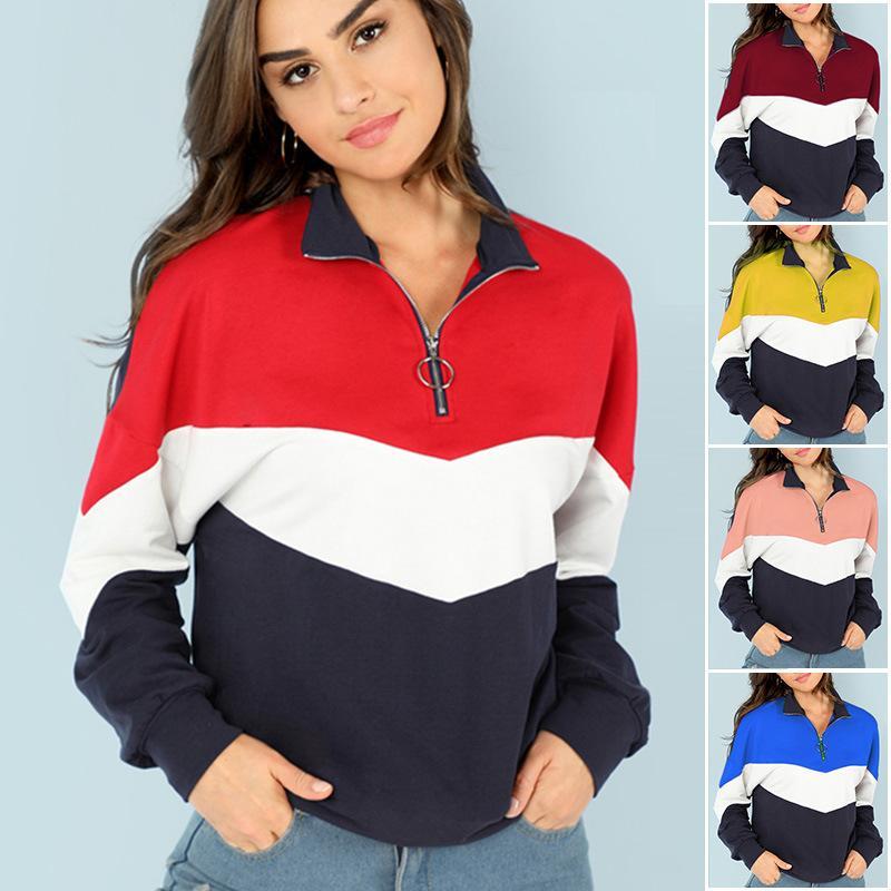 Новая сшитая одежда с длинными рукавами европейская и американская женская повседневная одежда