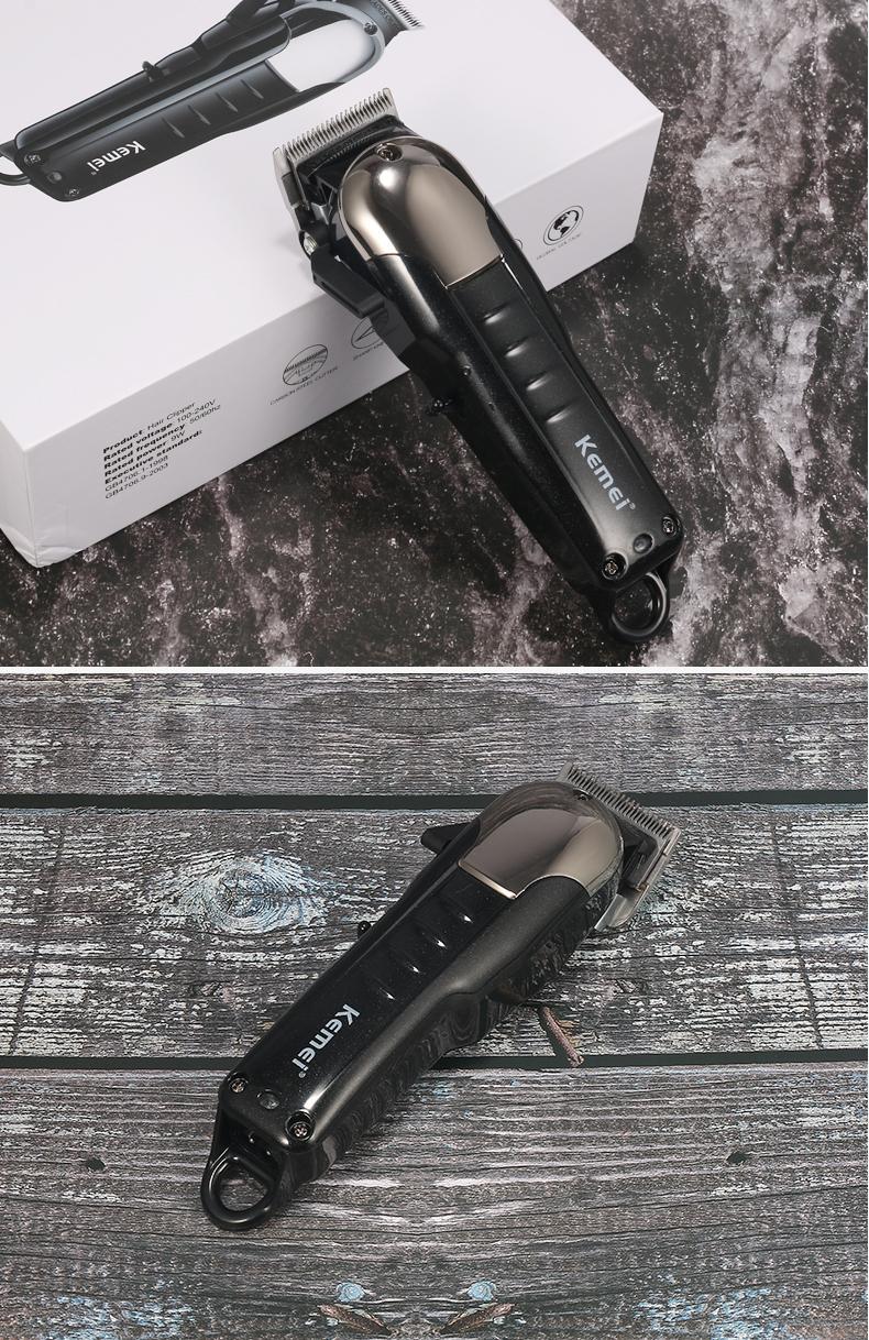 Kemei professionelle drahtlose Haartrimmer Leistungsstarke 30mm Bartschneider Messer Bart Rasierer KM-2608 newclipper CEZBG