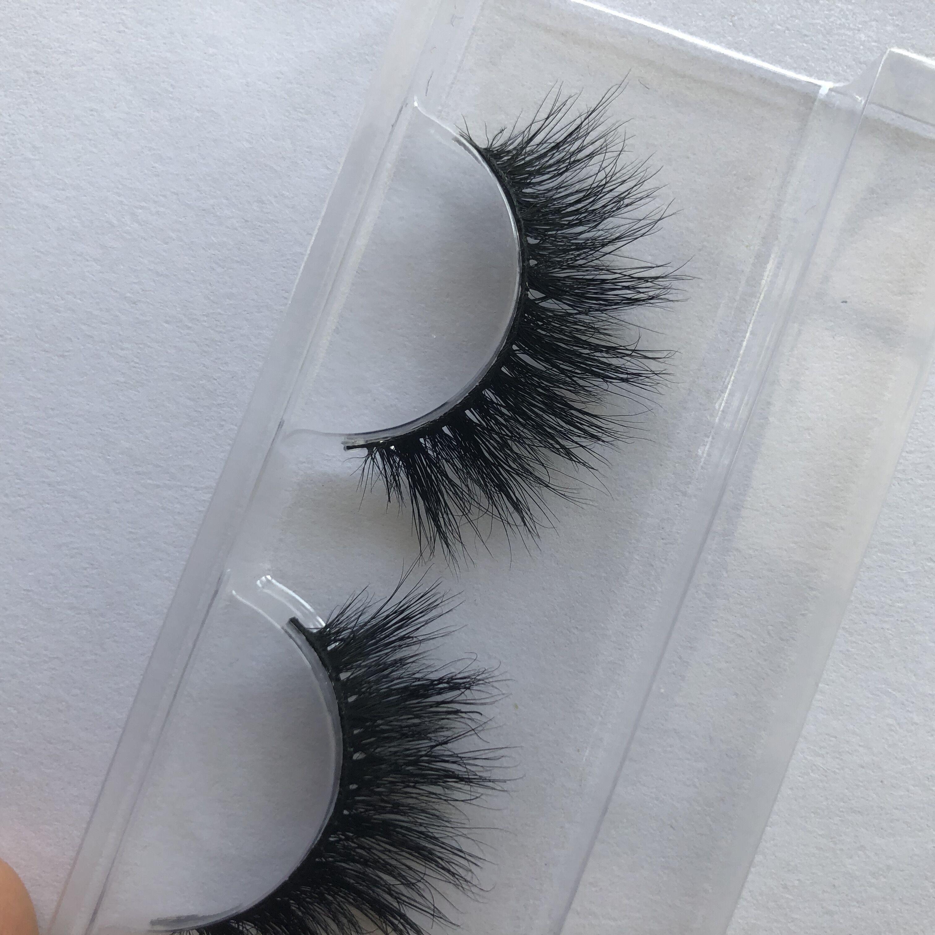 100% handgemachte 3D Nerz chaotisch 13mm natürlich aussehende falsche Wimpern Winged gefälschte Augen Make-up Verlängerung Wimpern Streifen M186