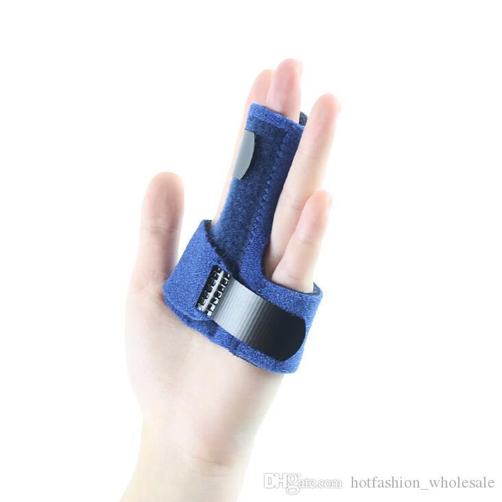 Pouce Splint arthrite poignet Brace sangle amovible soutien stabilisateur Trigger Finger douleur Relie Tissu Finger Splint