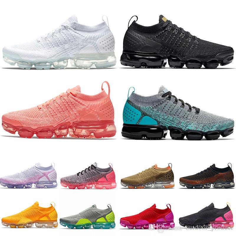 Nike Air Vapormax 2019 Cojines 2.0 Para Mujer Para Hombre Zapatillas Blanco  Rojo Amarillo Astilla Crimson Pulse Runners 2.0 Zapatillas Deportivas ...