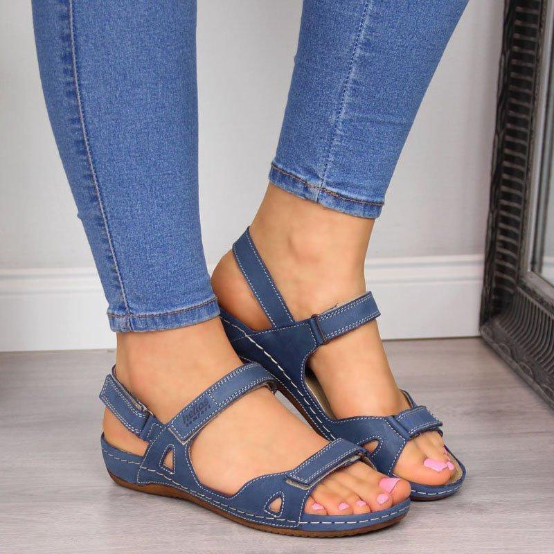 Nouveau Femmes d'été Sandales plates peep toes antidérapants Chaussures femme Casual Ladies Party Platform Bureau Gladiator Sandales Y200326