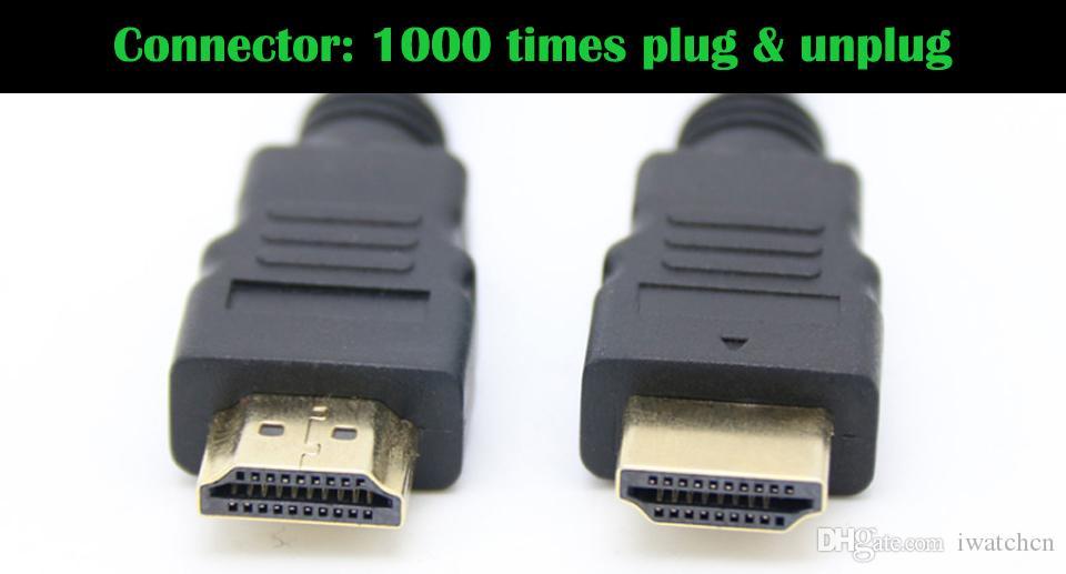 4.92FT 150 cm 9.84FT 300 cm 1.4 V 4 K HDMI Kablosu ile Ethernet Erkek Erkek Kablo 1.4 V 3D 1080 P 4 K * 2 K HDMI Kablosu