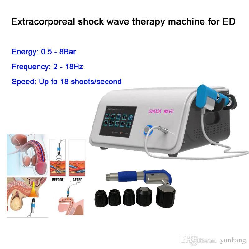 Top vendite prezzo di fabbrica shockwave portatile sollievo dal dolore macchina terapia d'urto extracorporea attrezzature terapia ad onde per trattamenti ED