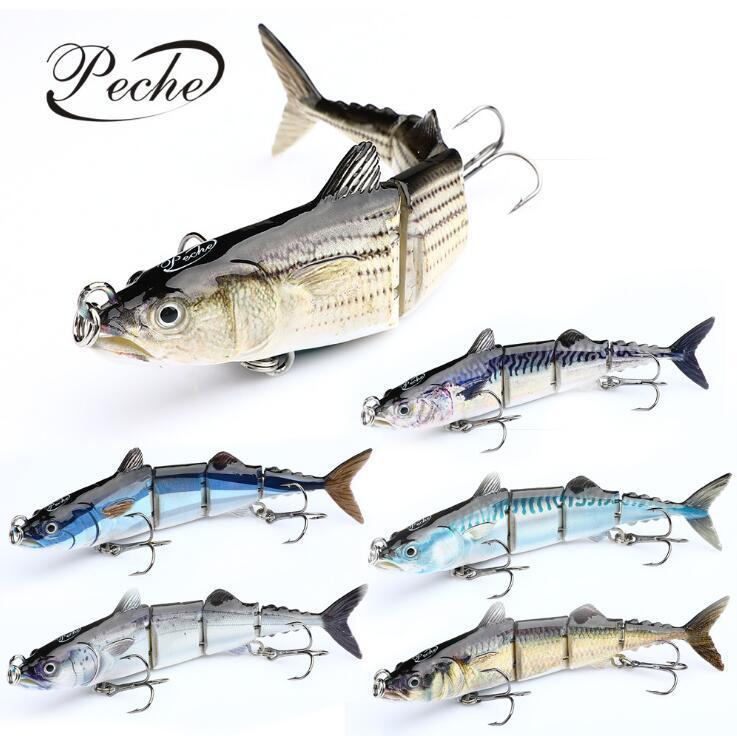 16см 32га рыболовной приманка Sinking Воблер несколько сочлененного Swimbait Жестких Приманок для рыбалки снасти Инструментов Песка Искусственного Pike Карп рыболовных снастей