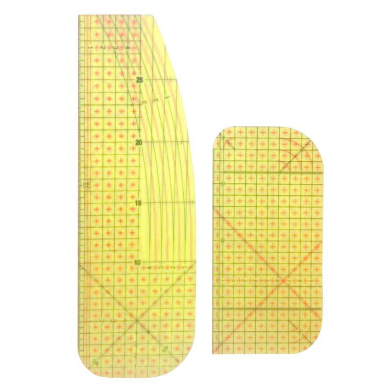 Tabla de regla de medición remiendo de tela a medida Craft gobernantes de herramientas de bricolaje de coser para la ropa de la ropa que hace la herramienta de coser domésticas