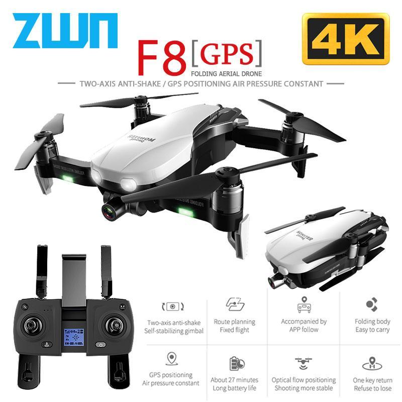 F8 GPS الطائرة بدون طيار مع اثنين من محور مضاد للاهتزاز انحراف واي فاي FPV 1080P 4K كاميرا فرش كوادكوبتر مقابل زن K1 SG906-استقرار الذاتي