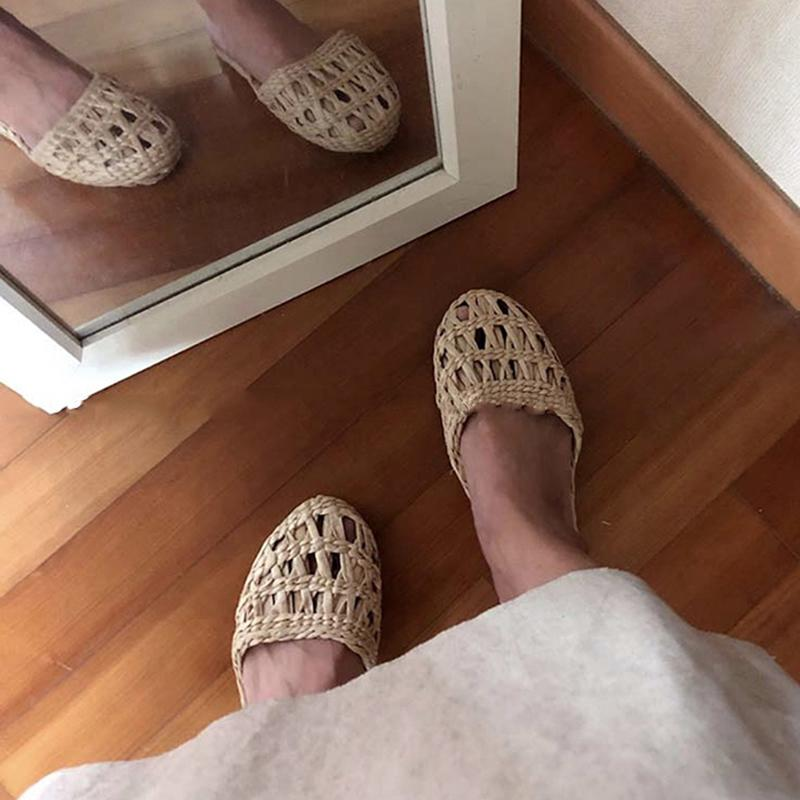 2020 AGESEA Ms. Men's Straw Slippers Handmade Chinese Sandals Unisex Summer Home Shoes New Couple Shoes Hot Slippers