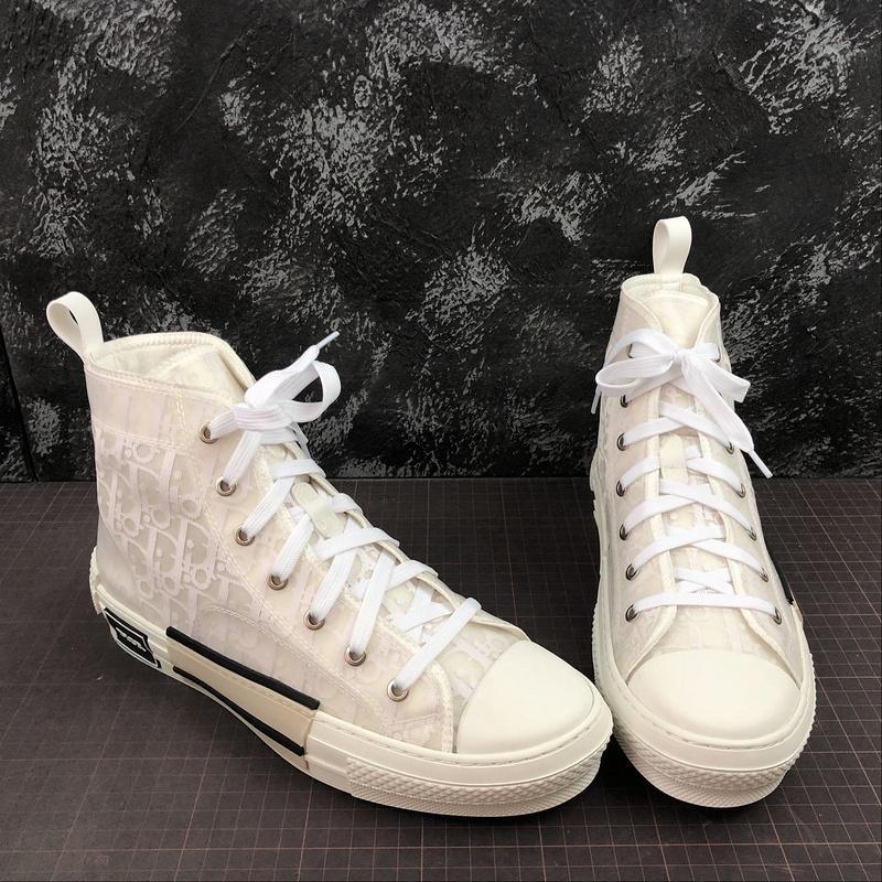 2020 새로운 19SS 사선 기술 직물 높은 도움 캐주얼 신발 B23 남성 명품 디자이너 신발 패션 캐주얼 신발 크기 36-45를 여자