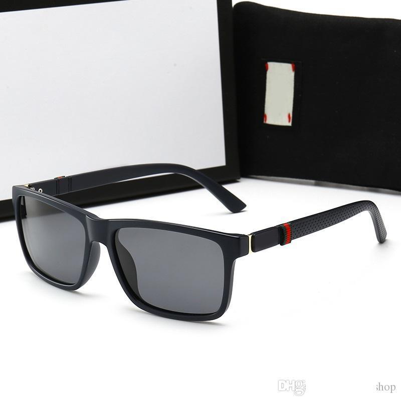 luxury- Sunglasses For Men Brand Fashion Designer Sun Glass Pilot Frame Coating Mirror UV400 Lens Carbon Fiber Legs Summer Style Eyewear