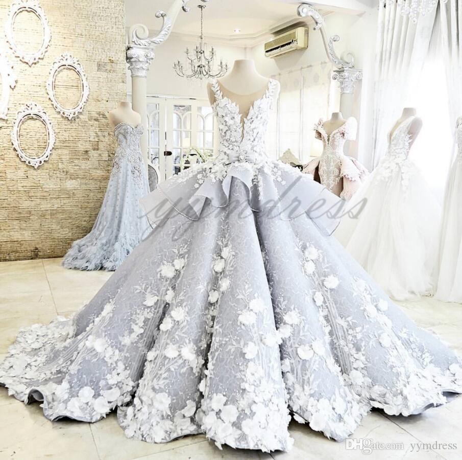 Vintage Pale Blue Wedding Dresses 2019