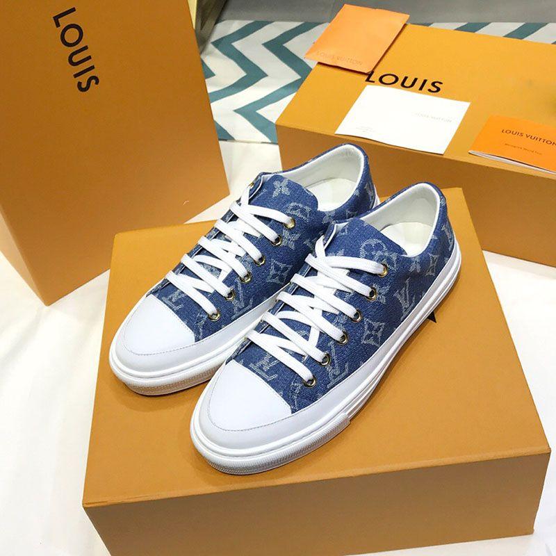 Womens tennis shoes Designer Sneakers Fashion Luxury Designer Women Shoes Low Casual Canvas Shoe Lady flats 35-41