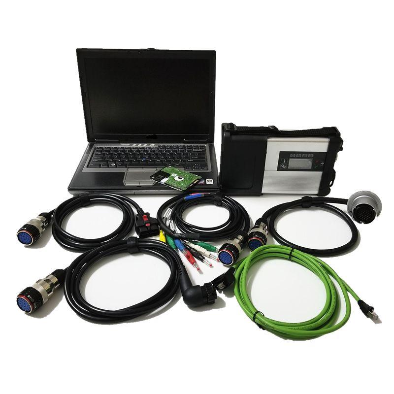 Звезда C5 MB для инструмента benz диагностического с програмным обеспечением 2019.12 xentry vediamo установила компьтер-книжку D630 для автомобиля и тележки mb