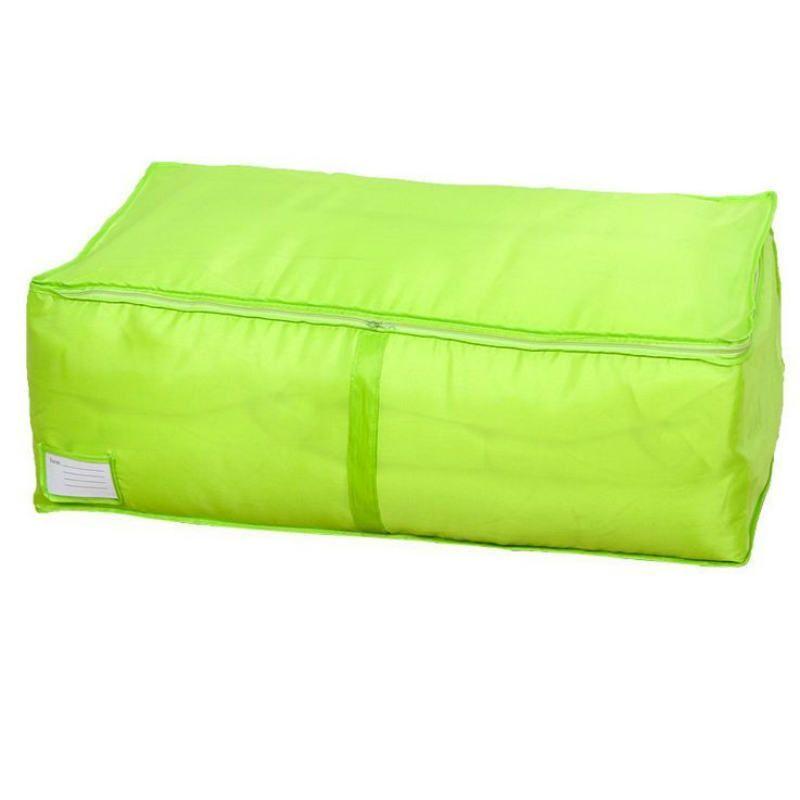 Sacos de armazenamento de tecido não tecido multicolor Sacos de colcha de roupas dobráveis organizador com cartão para roupas S-l